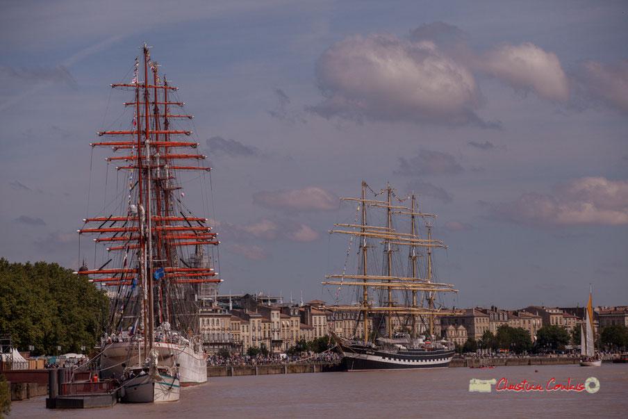 Les deux fleurons de la marine à voile russe, Sedov et Krusenstern dans le port de la lune. Bordeaux, 22/06/2019 Reproduction interdite - Tous droits réservés © Christian Coulais