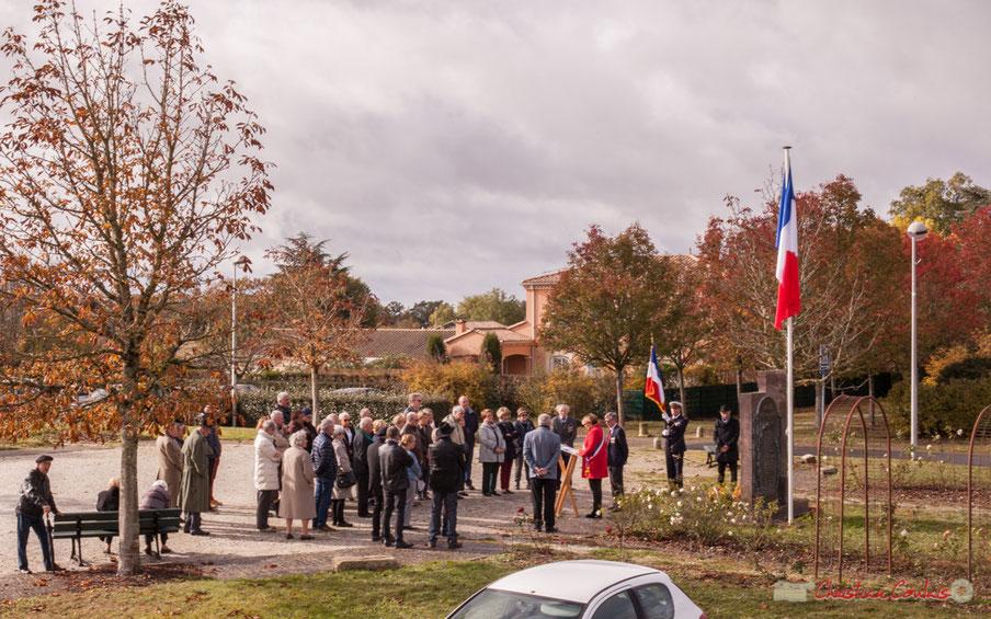 Commémoration de l'Armistice du 11 novembre 1918, Cénac. 11/11/2017