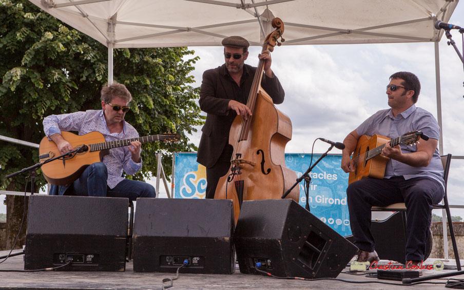 Festival JAZZ360 2019, Swing Home Trio (Bruno Debord, Olivier Cherbit, Ugo Leduc), Camblanes-et-Meynac, samedi 8 juin 2019
