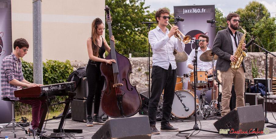 Deux quintets issus des ateliers jazz du conservatoire de Bordeaux Jacques Thibaud. Festival JAZZ360 2018, Quinsac. Dimanche 10 juin 2018