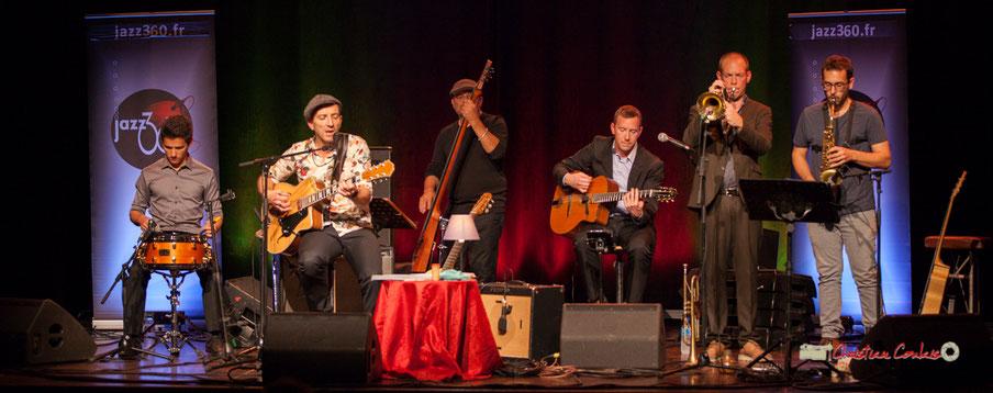 The Rix'tet (Joris Seguin, Rix, Pascal Fallot, Robin Dietrich, Jérôme Dubois) invite Paul Robert, saxophoniste. Soirée club JAZZ360, Cénac. 05/10/2019