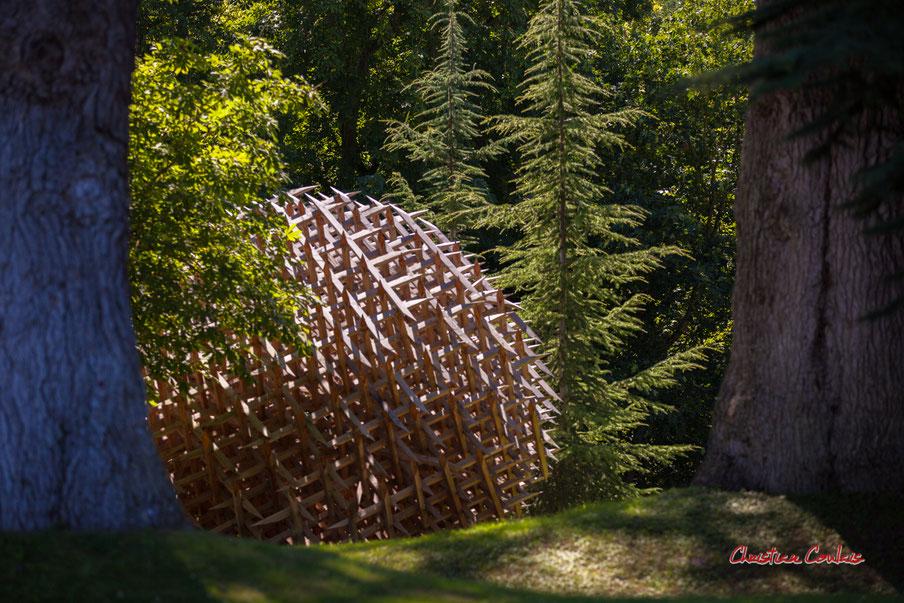 Géométrie discursive de Vincent Mauger. Parc historique, domaine de Chaumont-sur-Loire. Lundi 13 juillet 2020. Photographie © Christian Coulais
