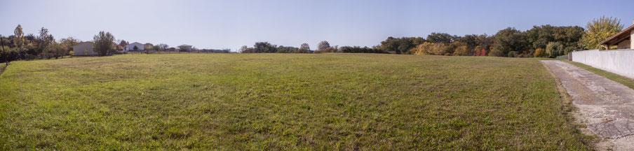 Zone agricole de Moutille, avenue de Moutille, Cénac, Gironde. 16 octobre 2017