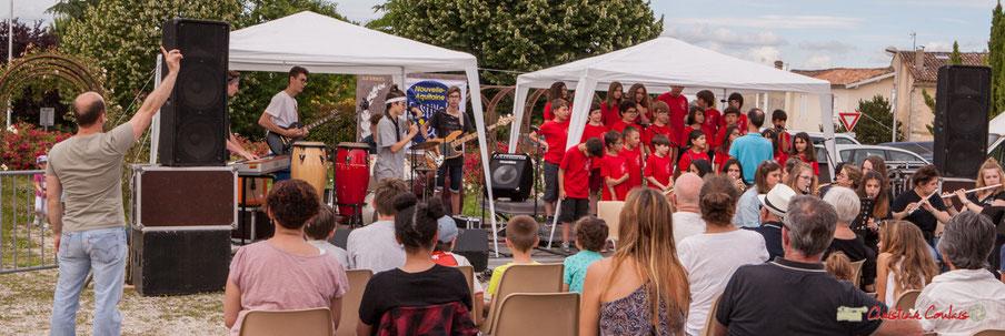 Chorale de l'école du Tourne accompagnée par le Big Band Jazz du collège Eléonore de Provence. Festival JAZZ360 2018, Cénac. 08/06/2018