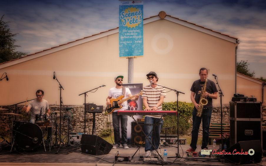 The Protolites; Guillaume Brissaud, Victor Bérard, Olivier Lerole, Vincent Lefort. Festival JAZZ360 2019, Quinsac. Dimanche 9 juin 2019