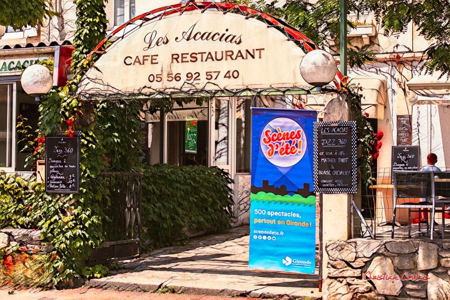 Apéro dinatoire Jazz360 Mathieu Tarot & Blaise Chevallier, vendredi 4 juin 2021, restaurant les Acacias, Cénac. Photographie © Christian Coulais