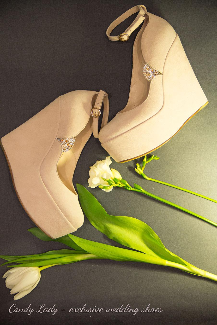 пудровые свадебные туфли айвори белые пошив Киев Москва