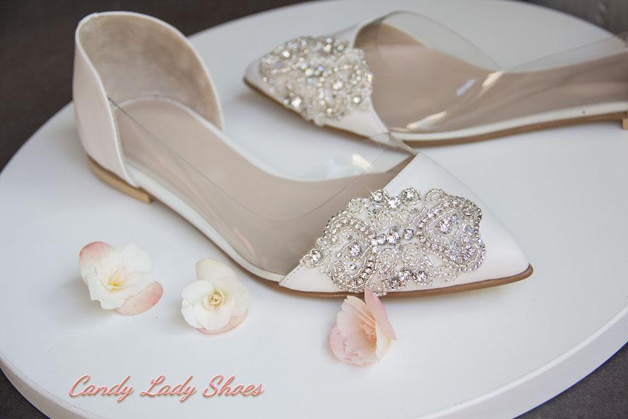 белые балетки свадебные Candy Lady Киев Днепр Одесса Москва весільне взуття