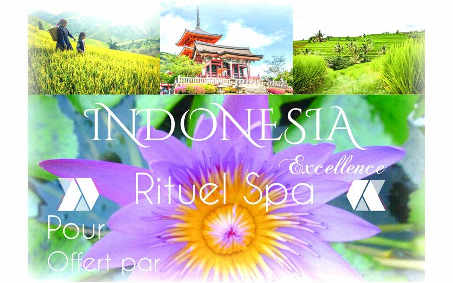 déléctez-vous avec notre rituel spa Indonesia, gommage, enveloppement, massage Balinais, bien etre et détente assurée.