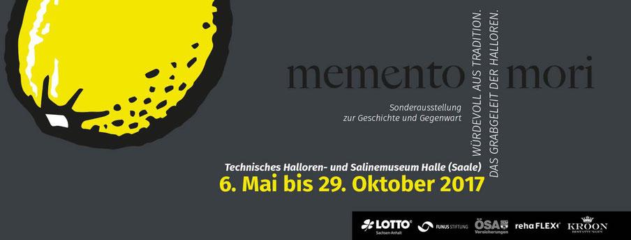 Titelbild für Facebook zur Ausstellung: Memento mori- Das Grabgeleit der Halloren. Gestaltung: Frank Weiss.