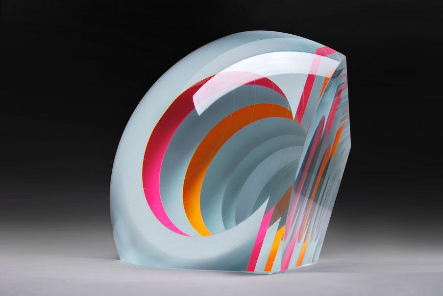 White Fission II. | cut, ground, laminated, hand polished glass | 30 x 30 x 23 cm | 2016