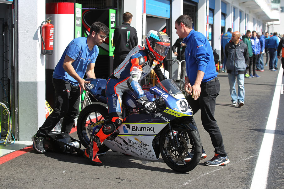Marvin Siebdrath 2019 im European Talent Cup für das Blumaq HMA Racing Team
