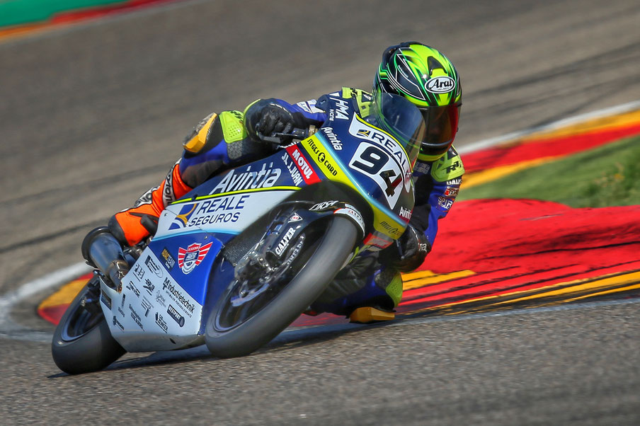 Marvin Siebdrath im European Talent Cup 2018 in Aragon.