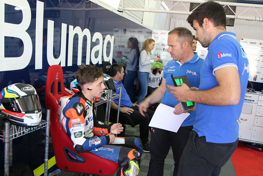 Marvin Siebdrath im Blumaq HMA Racing Team im European Talent Cup 2019