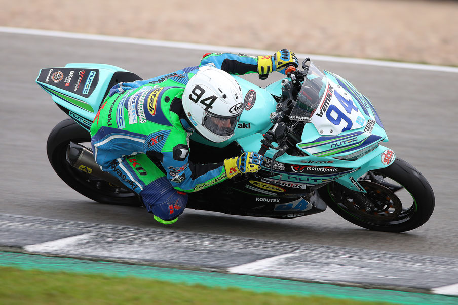 Marvin Siebdrath in der IDM Supersport 300 in Assen