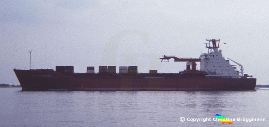 "Hamburg-Süd Containerschiff ""MONTE CERVANTES"" 1983"