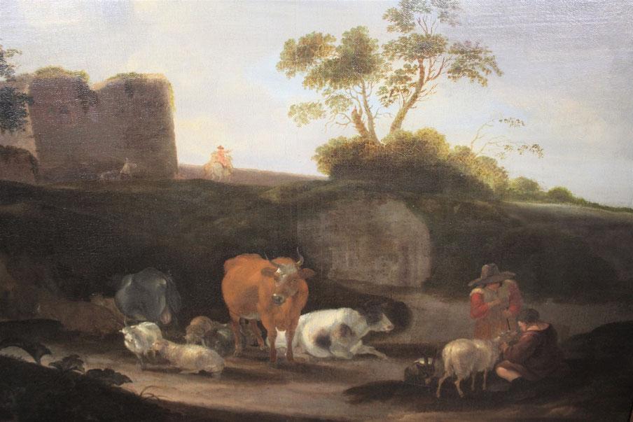 te_koop_aangeboden_een_landschaps_schilderij_van_de_kunstschilder_dirck_van_bergen_1645-1699_17e_eeuw_nederlands_gouden_eeuw