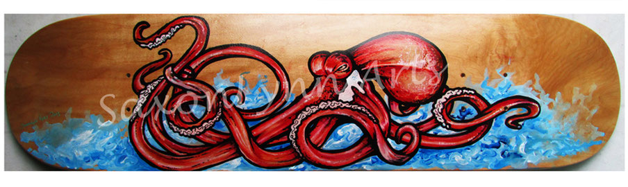 red octopus skateboard