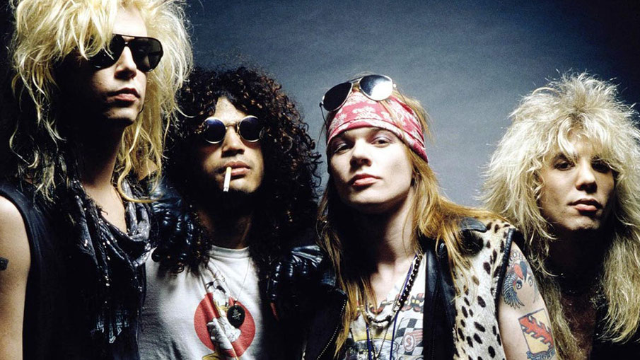 bellissimo primo piano guns 'n' roses