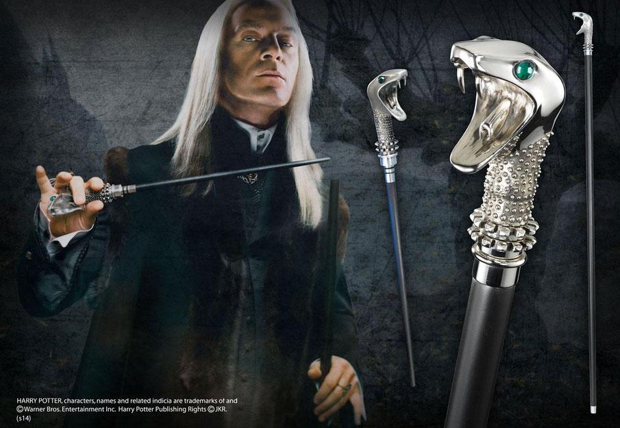 Lucius Malfoys Gehstock mit Zauberstab 1/1 Life Size Harry Potter 118cm Replik Noble