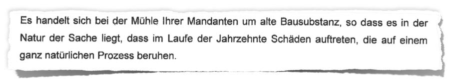 Zitat aus einem  Anwaltsschreiben der Anwälte des Amtes für Bodenmanagement