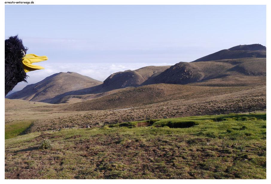 Ein frischer Morgen im Sabalan-Gebirge