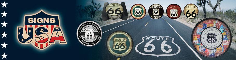 Billige Route 66 Blechschilder und Untersetzer