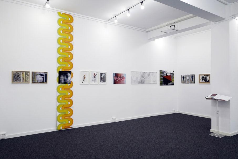 Ausstellungsansicht Kunst-Quartier, Osnabrück 2020, Gruppenausstellung Zivil-Collagen
