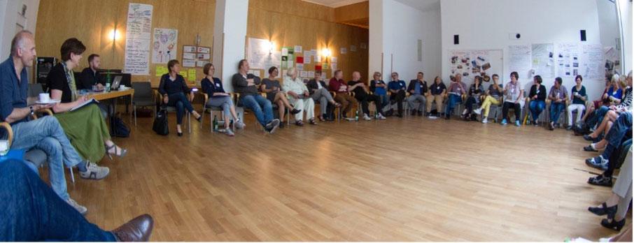 Gruppenbild von der Mitgliederversammlung des Ruth Cohn Institutes for TCI International