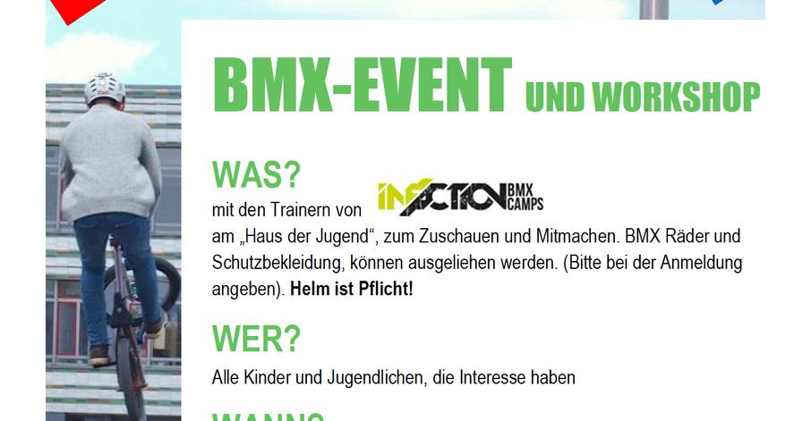 Das BMX-Event am 31. 7. 2021 wird wieder ein Highlight im Programm der Stadtjugendpflege sein