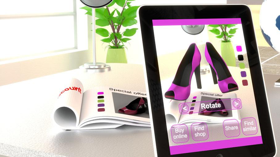 Digitalisieren Sie Ihre bestehenden Kataloge mit AR und Ihrem Online Shop. Zeigen Sie Ihre Produkte in 3D.