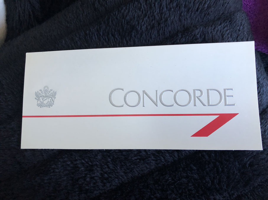 One of my ticket and boarding pass wallets from the BA Concorde (RB)