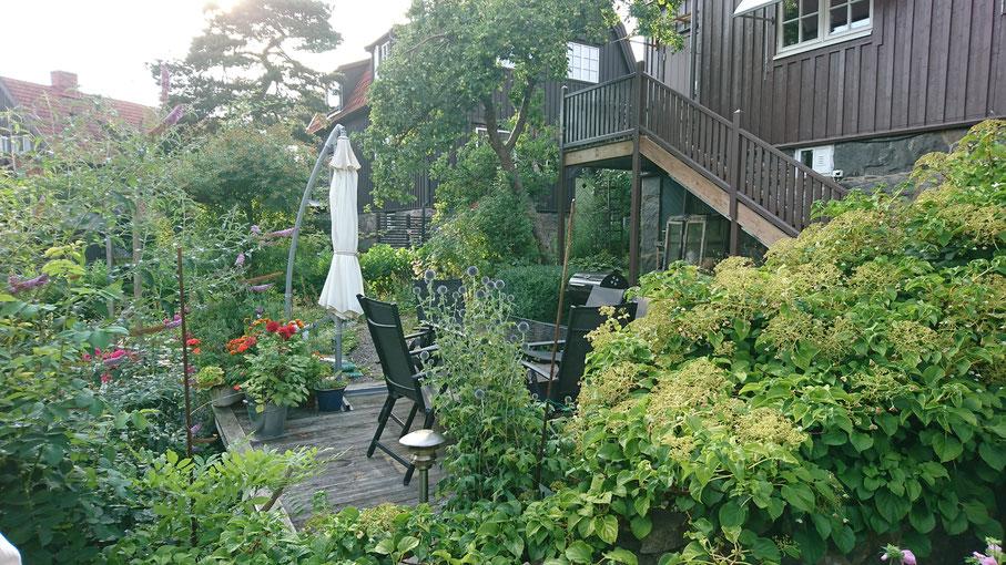 ヨーテボリの民泊のお庭