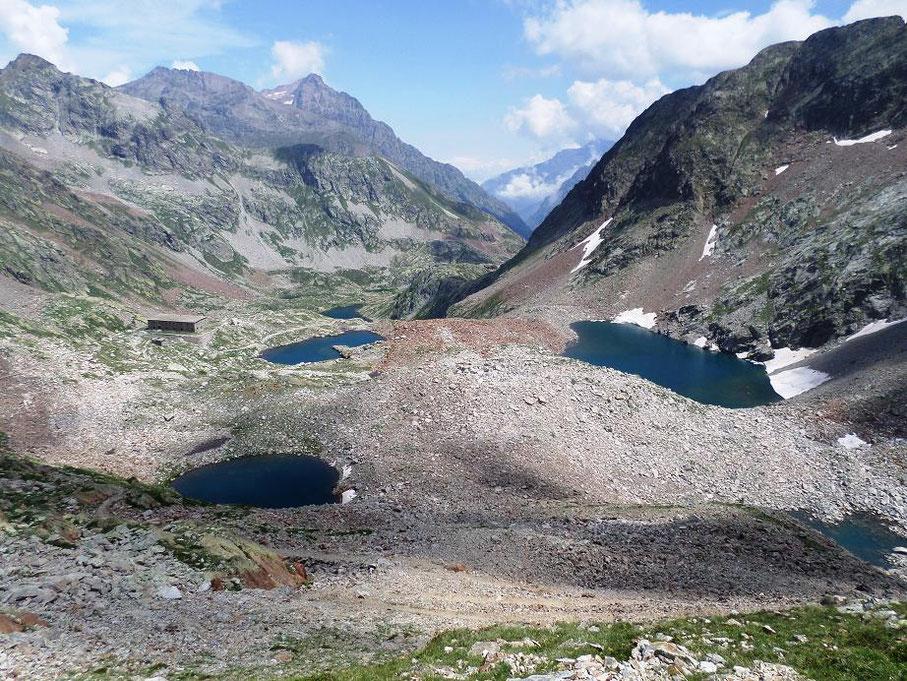 Les lacs Valscura, côté italien