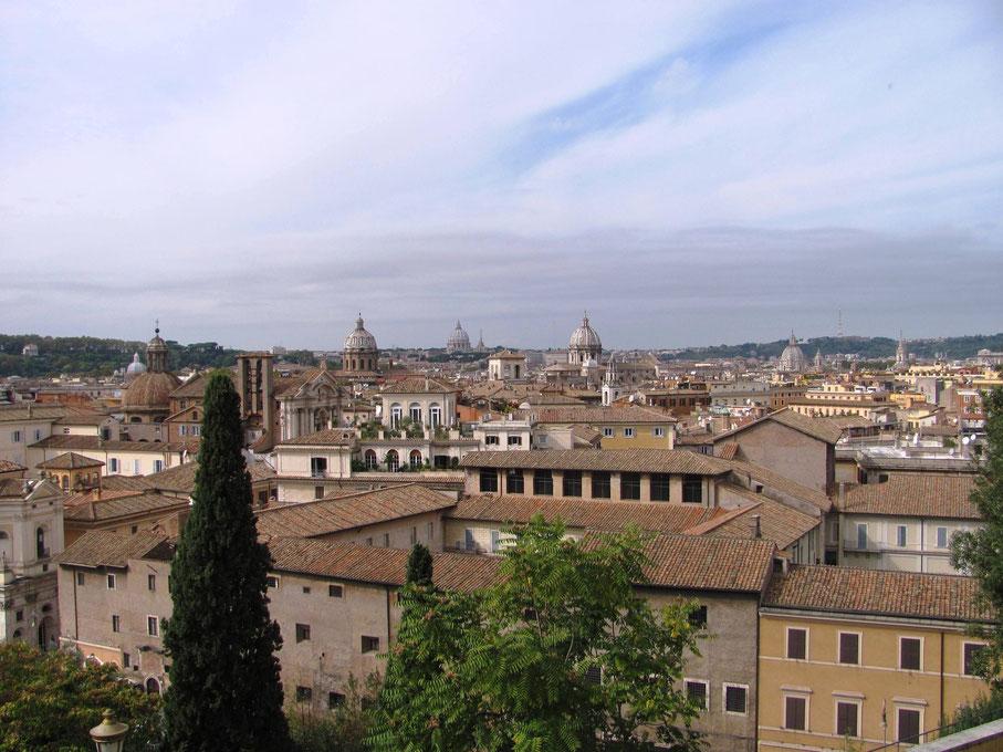 vue de la terrasse de la cafétéria du musée du Capitole