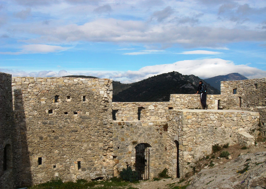 Ruines du château abandonnée au XVIIIe siècle.