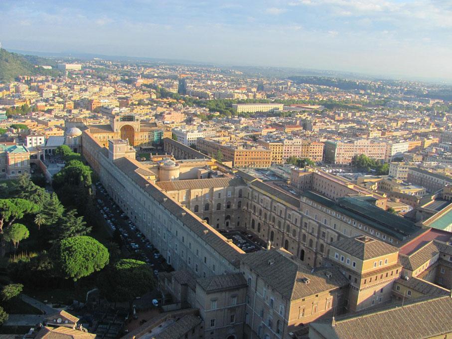 Vue sur le musée du Vatican