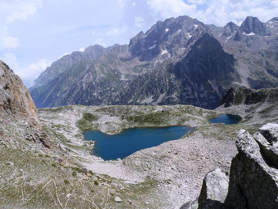 Vue sur le lago Soprano di Fremamorta coté italien
