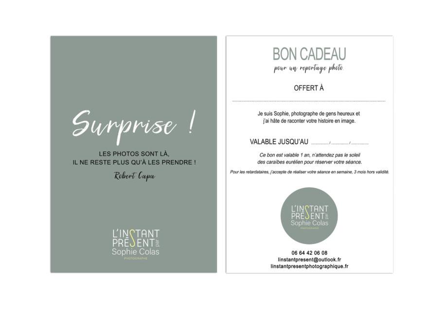 Carte cadeau offrir séance photo cours photo Chartres - Eure et loir 28