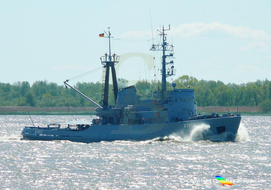 Bundesmarine Schlepper SPIEKEROOG, Elbe 13.05.2019