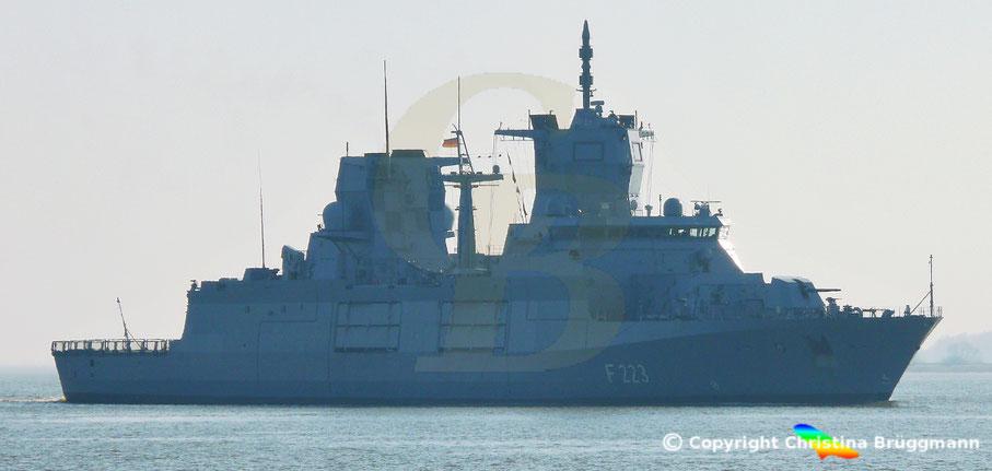 """Bundesmarine Fregatte Fregatte """"NORDRHEIN-WESTFALEN"""" F 223"""