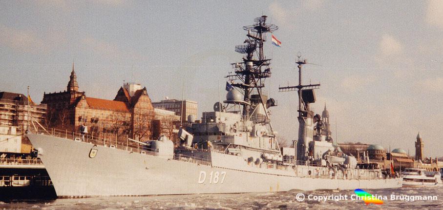 Bundesmarine Zerstörer ROMMEL D-187 Klasse 103B in Hamburg 1997