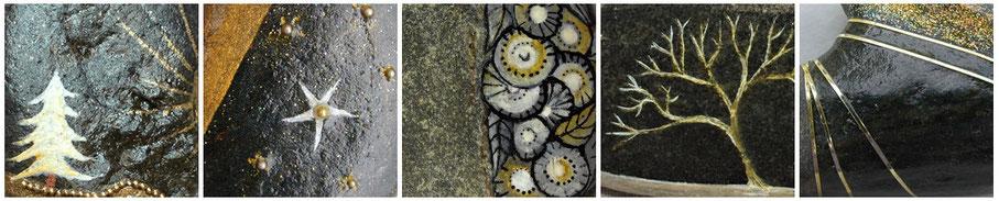 galets peints - coeur de pierre - lysa mignot
