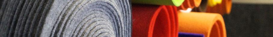 Rob&Raf Material Stoff Polyester Filz Grau Graphit Orange Rot Violett Grün Imprägniert