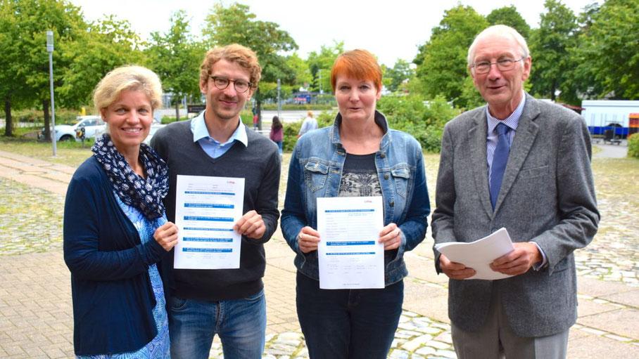 Maren Rusch, David Kamin, Sabine Bönning und Klaus H. Hensel stellten das geplante Gutachten vor.