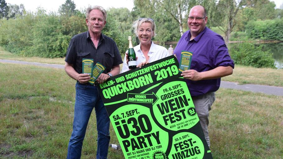 Prof. Christoph Meier-Siem, Kirsten de Jong und Günter Junkerr stellten das Programm des Schützenvereins vor