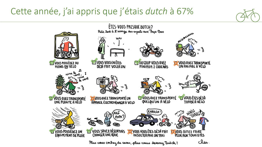 dessin velo hollandais