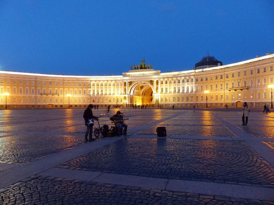 Generalstabsgebäude St. Petersburg, Russland - weiße Nächte