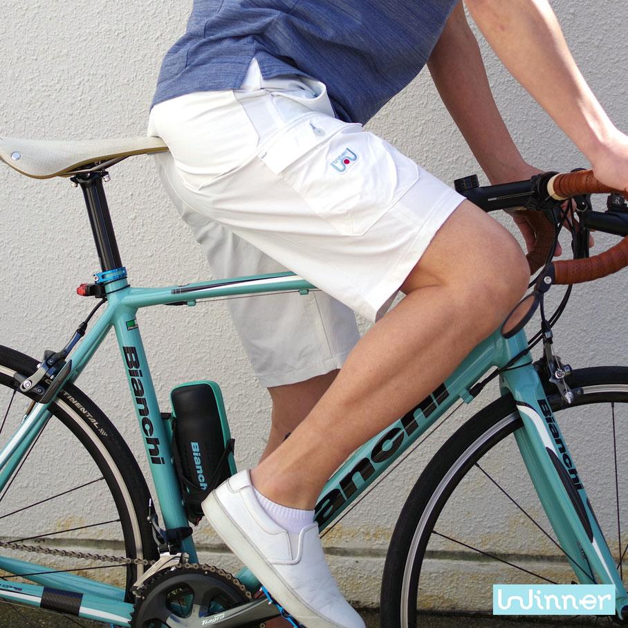 4ウェイ、2ウェイ、ツイード、自転車通勤、ツイードラン、サイクリング、ポタリング、カジュアル、フォーマル、動きやすい