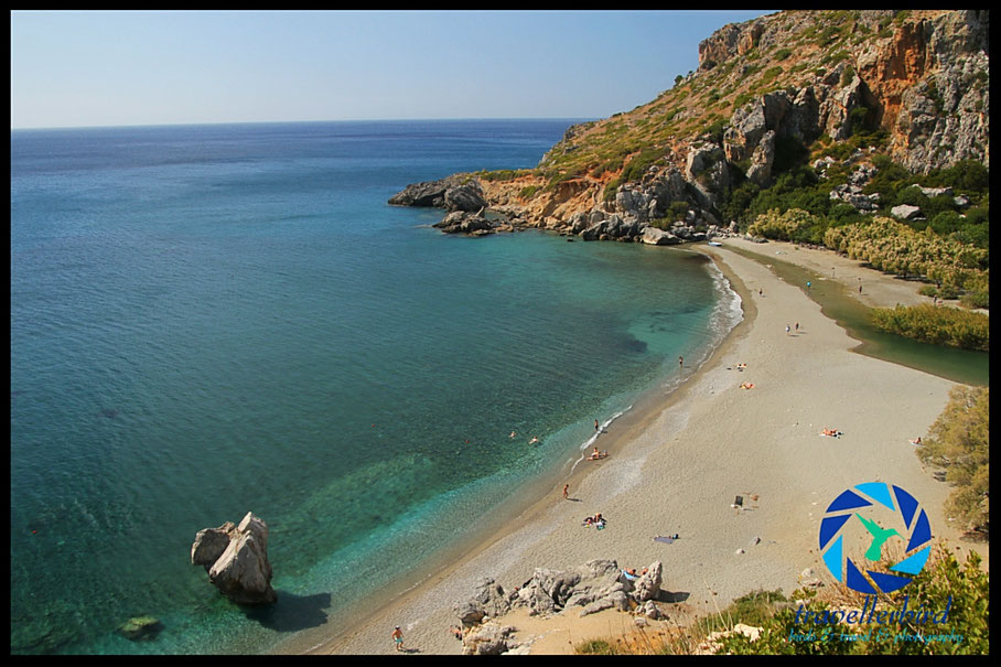 Beach of Preveli on Crete